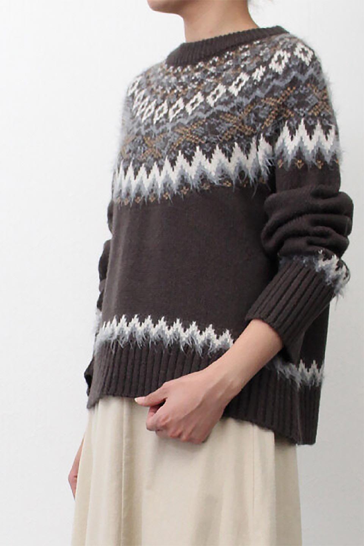 AcrylicMohairNordicSweaterアクリルモヘア・ノルディックセーター大人カジュアルに最適な海外ファッションのothers(その他インポートアイテム)のトップスやニット・セーター。毎年根強い人気のノルディックセーター。首周りをぐるりと囲むノルディック柄が可愛いセーターです。/main-28