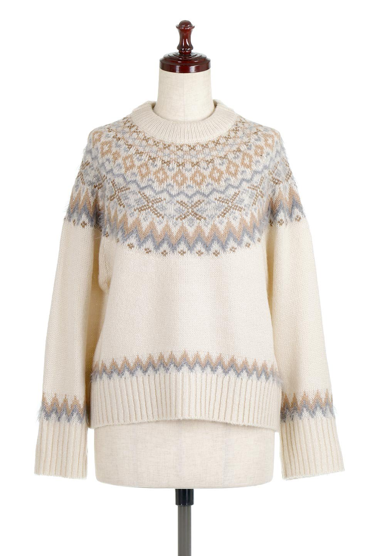 AcrylicMohairNordicSweaterアクリルモヘア・ノルディックセーター大人カジュアルに最適な海外ファッションのothers(その他インポートアイテム)のトップスやニット・セーター。毎年根強い人気のノルディックセーター。首周りをぐるりと囲むノルディック柄が可愛いセーターです。/main-5