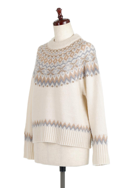 AcrylicMohairNordicSweaterアクリルモヘア・ノルディックセーター大人カジュアルに最適な海外ファッションのothers(その他インポートアイテム)のトップスやニット・セーター。毎年根強い人気のノルディックセーター。首周りをぐるりと囲むノルディック柄が可愛いセーターです。/main-6