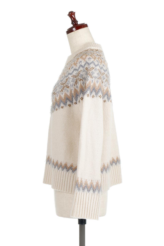 AcrylicMohairNordicSweaterアクリルモヘア・ノルディックセーター大人カジュアルに最適な海外ファッションのothers(その他インポートアイテム)のトップスやニット・セーター。毎年根強い人気のノルディックセーター。首周りをぐるりと囲むノルディック柄が可愛いセーターです。/main-7