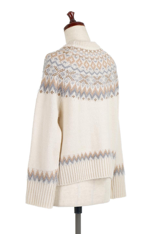 AcrylicMohairNordicSweaterアクリルモヘア・ノルディックセーター大人カジュアルに最適な海外ファッションのothers(その他インポートアイテム)のトップスやニット・セーター。毎年根強い人気のノルディックセーター。首周りをぐるりと囲むノルディック柄が可愛いセーターです。/main-8