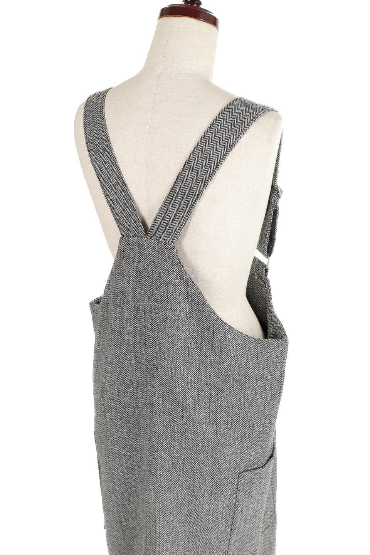 HerringboneJumperDressヘリンボーン・ジャンパースカート大人カジュアルに最適な海外ファッションのothers(その他インポートアイテム)のワンピースやマキシワンピース。季節感の有るヘリンボーン生地を用いたジャンパースカート。トラディショナルな雰囲気で流行り廃りのないアイテムです。/main-11