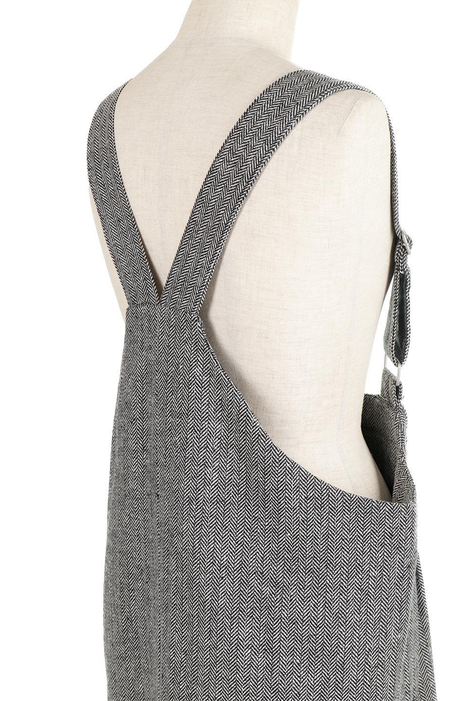HerringboneJumperDressヘリンボーン・ジャンパースカート大人カジュアルに最適な海外ファッションのothers(その他インポートアイテム)のワンピースやマキシワンピース。季節感の有るヘリンボーン生地を用いたジャンパースカート。トラディショナルな雰囲気で流行り廃りのないアイテムです。/main-12