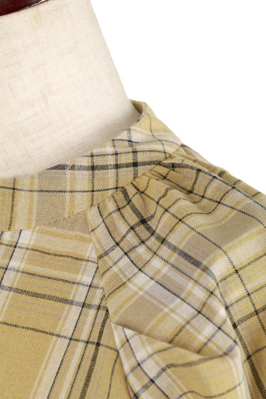 CandySleeveCheckBlouseキャンディースリーブ・チェック柄ブラウス大人カジュアルに最適な海外ファッションのothers(その他インポートアイテム)のトップスやシャツ・ブラウス。キャンディースリーブのボリュームが可愛いブラウス。チェック柄とシンプルな首周りでコーディネートの幅が広がります。/main-24