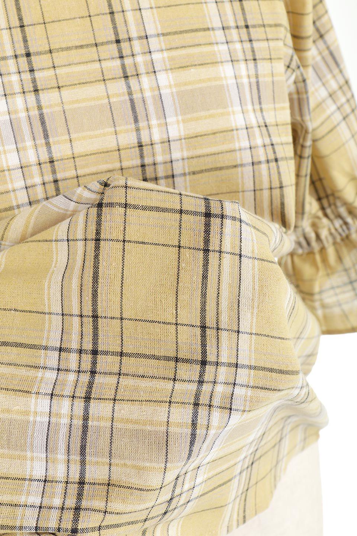 CandySleeveCheckBlouseキャンディースリーブ・チェック柄ブラウス大人カジュアルに最適な海外ファッションのothers(その他インポートアイテム)のトップスやシャツ・ブラウス。キャンディースリーブのボリュームが可愛いブラウス。チェック柄とシンプルな首周りでコーディネートの幅が広がります。/main-28
