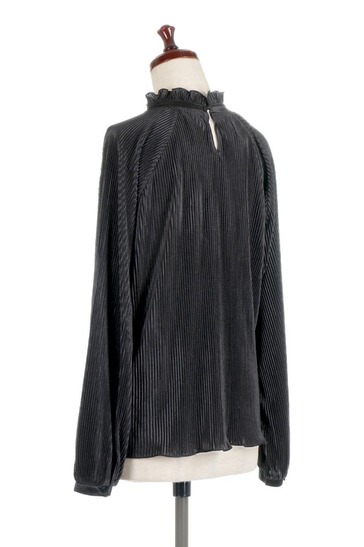 AccordionPleatedBlouseアコーディオンプリーツ・ラグランブラウス大人カジュアルに最適な海外ファッションのothers(その他インポートアイテム)のトップスやシャツ・ブラウス。大人気。アコーディオンプリーツの上品ブラウス。/main-13