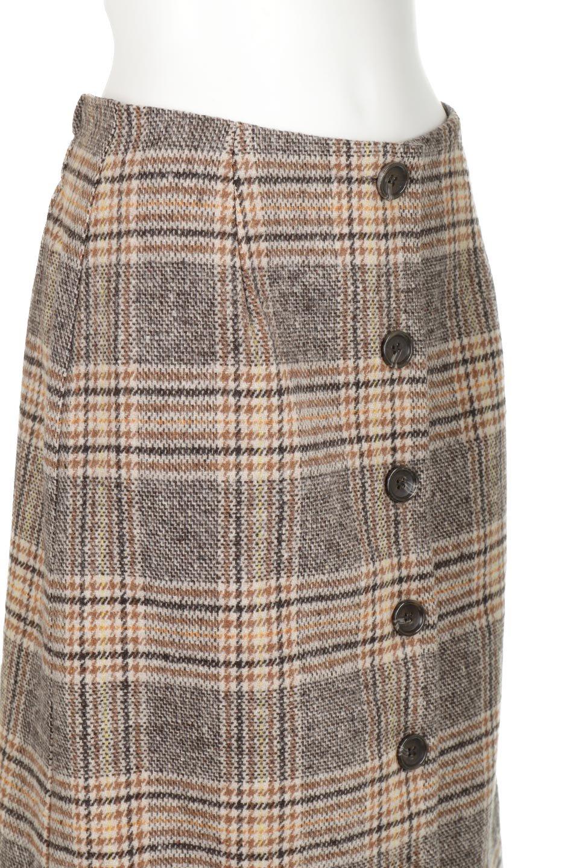 RetroCheckPatternedTweedSkirtレトロチェック・ツイードスカート大人カジュアルに最適な海外ファッションのothers(その他インポートアイテム)のボトムやスカート。温かみのあるツイード風のチェック生地が可愛いロングスカート。素材の雰囲気を生かしたレトロなチェック柄がおすすめポイントです。/main-10