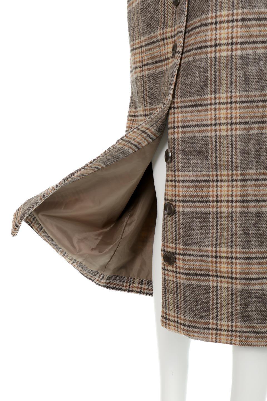 RetroCheckPatternedTweedSkirtレトロチェック・ツイードスカート大人カジュアルに最適な海外ファッションのothers(その他インポートアイテム)のボトムやスカート。温かみのあるツイード風のチェック生地が可愛いロングスカート。素材の雰囲気を生かしたレトロなチェック柄がおすすめポイントです。/main-15