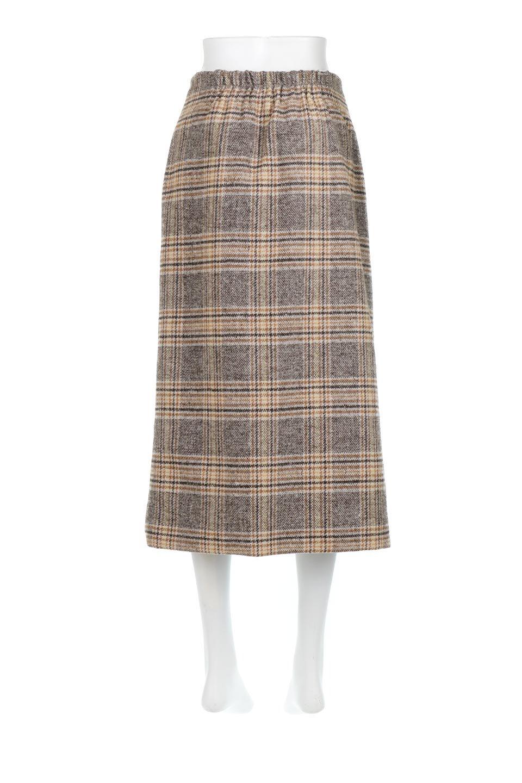 RetroCheckPatternedTweedSkirtレトロチェック・ツイードスカート大人カジュアルに最適な海外ファッションのothers(その他インポートアイテム)のボトムやスカート。温かみのあるツイード風のチェック生地が可愛いロングスカート。素材の雰囲気を生かしたレトロなチェック柄がおすすめポイントです。/main-4