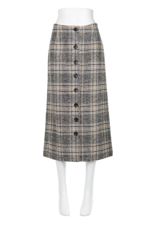 RetroCheckPatternedTweedSkirtレトロチェック・ツイードスカート大人カジュアルに最適な海外ファッションのothers(その他インポートアイテム)のボトムやスカート。温かみのあるツイード風のチェック生地が可愛いロングスカート。素材の雰囲気を生かしたレトロなチェック柄がおすすめポイントです。/main-5