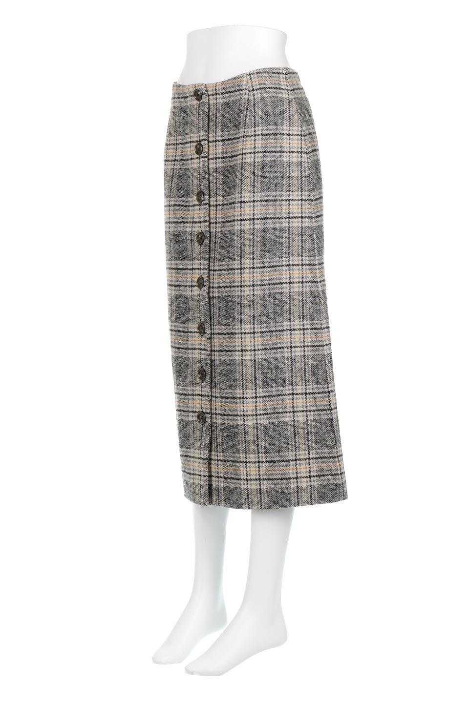 RetroCheckPatternedTweedSkirtレトロチェック・ツイードスカート大人カジュアルに最適な海外ファッションのothers(その他インポートアイテム)のボトムやスカート。温かみのあるツイード風のチェック生地が可愛いロングスカート。素材の雰囲気を生かしたレトロなチェック柄がおすすめポイントです。/main-6