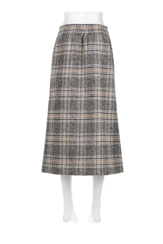 RetroCheckPatternedTweedSkirtレトロチェック・ツイードスカート大人カジュアルに最適な海外ファッションのothers(その他インポートアイテム)のボトムやスカート。温かみのあるツイード風のチェック生地が可愛いロングスカート。素材の雰囲気を生かしたレトロなチェック柄がおすすめポイントです。/main-9