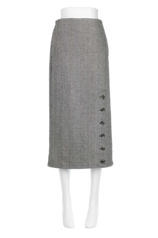 TweedHerringboneSemiTightSkirtツイードヘリンボーン・セミタイトスカート大人カジュアルに最適な海外ファッションのothers(その他インポートアイテム)のボトムやスカート。シックなヘリボーン生地のセミタイトスカート。ややゆとりのあるIラインが特徴の暖かスカートです。