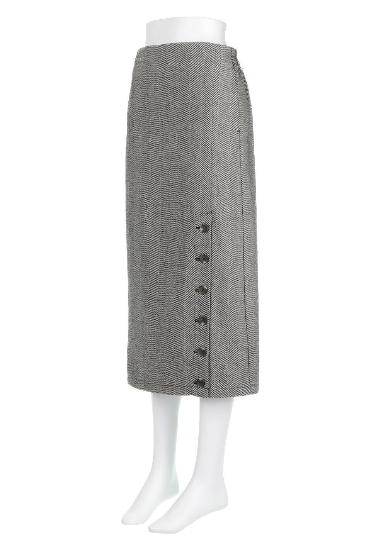TweedHerringboneSemiTightSkirtツイードヘリンボーン・セミタイトスカート大人カジュアルに最適な海外ファッションのothers(その他インポートアイテム)のボトムやスカート。シックなヘリボーン生地のセミタイトスカート。ややゆとりのあるIラインが特徴の暖かスカートです。/main-1