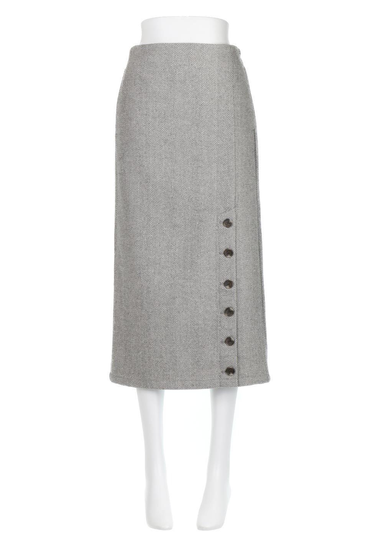 TweedHerringboneSemiTightSkirtツイードヘリンボーン・セミタイトスカート大人カジュアルに最適な海外ファッションのothers(その他インポートアイテム)のボトムやスカート。シックなヘリボーン生地のセミタイトスカート。ややゆとりのあるIラインが特徴の暖かスカートです。/main-10