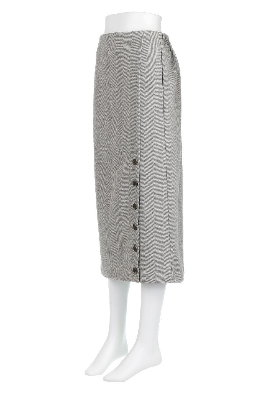 TweedHerringboneSemiTightSkirtツイードヘリンボーン・セミタイトスカート大人カジュアルに最適な海外ファッションのothers(その他インポートアイテム)のボトムやスカート。シックなヘリボーン生地のセミタイトスカート。ややゆとりのあるIラインが特徴の暖かスカートです。/main-11