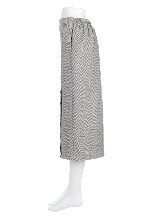 TweedHerringboneSemiTightSkirtツイードヘリンボーン・セミタイトスカート大人カジュアルに最適な海外ファッションのothers(その他インポートアイテム)のボトムやスカート。シックなヘリボーン生地のセミタイトスカート。ややゆとりのあるIラインが特徴の暖かスカートです。/main-12