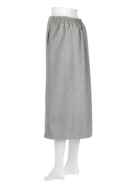 TweedHerringboneSemiTightSkirtツイードヘリンボーン・セミタイトスカート大人カジュアルに最適な海外ファッションのothers(その他インポートアイテム)のボトムやスカート。シックなヘリボーン生地のセミタイトスカート。ややゆとりのあるIラインが特徴の暖かスカートです。/main-13