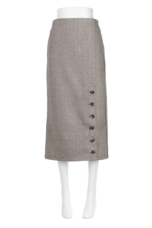 TweedHerringboneSemiTightSkirtツイードヘリンボーン・セミタイトスカート大人カジュアルに最適な海外ファッションのothers(その他インポートアイテム)のボトムやスカート。シックなヘリボーン生地のセミタイトスカート。ややゆとりのあるIラインが特徴の暖かスカートです。/main-15