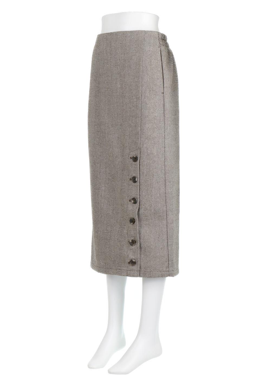 TweedHerringboneSemiTightSkirtツイードヘリンボーン・セミタイトスカート大人カジュアルに最適な海外ファッションのothers(その他インポートアイテム)のボトムやスカート。シックなヘリボーン生地のセミタイトスカート。ややゆとりのあるIラインが特徴の暖かスカートです。/main-16