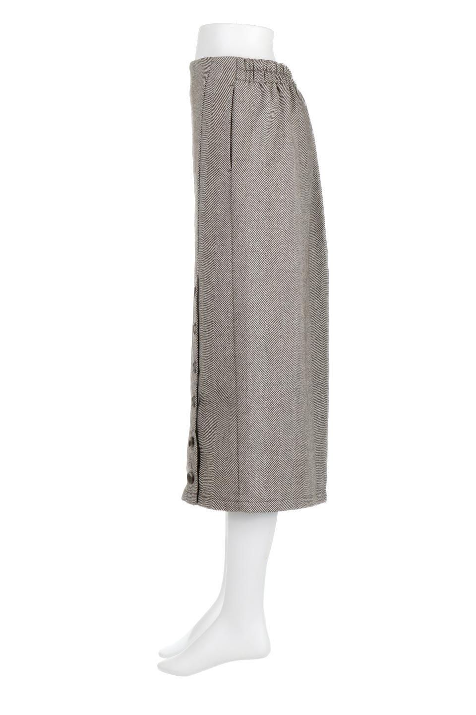 TweedHerringboneSemiTightSkirtツイードヘリンボーン・セミタイトスカート大人カジュアルに最適な海外ファッションのothers(その他インポートアイテム)のボトムやスカート。シックなヘリボーン生地のセミタイトスカート。ややゆとりのあるIラインが特徴の暖かスカートです。/main-17