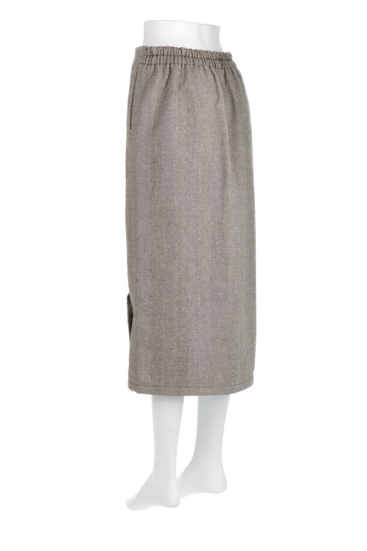 TweedHerringboneSemiTightSkirtツイードヘリンボーン・セミタイトスカート大人カジュアルに最適な海外ファッションのothers(その他インポートアイテム)のボトムやスカート。シックなヘリボーン生地のセミタイトスカート。ややゆとりのあるIラインが特徴の暖かスカートです。/main-18