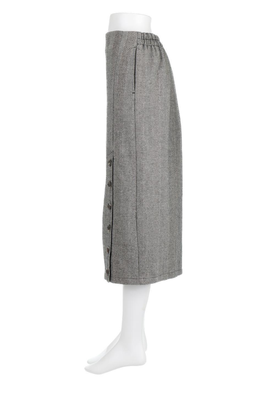 TweedHerringboneSemiTightSkirtツイードヘリンボーン・セミタイトスカート大人カジュアルに最適な海外ファッションのothers(その他インポートアイテム)のボトムやスカート。シックなヘリボーン生地のセミタイトスカート。ややゆとりのあるIラインが特徴の暖かスカートです。/main-2
