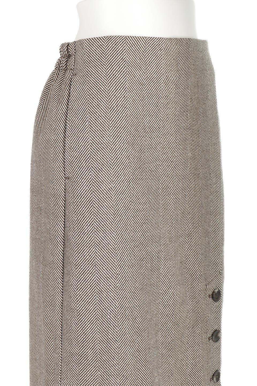 TweedHerringboneSemiTightSkirtツイードヘリンボーン・セミタイトスカート大人カジュアルに最適な海外ファッションのothers(その他インポートアイテム)のボトムやスカート。シックなヘリボーン生地のセミタイトスカート。ややゆとりのあるIラインが特徴の暖かスカートです。/main-20