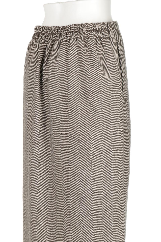 TweedHerringboneSemiTightSkirtツイードヘリンボーン・セミタイトスカート大人カジュアルに最適な海外ファッションのothers(その他インポートアイテム)のボトムやスカート。シックなヘリボーン生地のセミタイトスカート。ややゆとりのあるIラインが特徴の暖かスカートです。/main-21