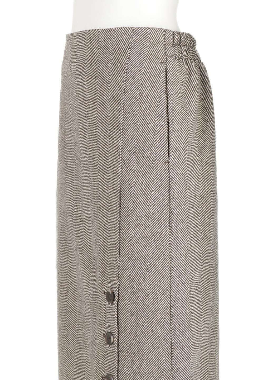TweedHerringboneSemiTightSkirtツイードヘリンボーン・セミタイトスカート大人カジュアルに最適な海外ファッションのothers(その他インポートアイテム)のボトムやスカート。シックなヘリボーン生地のセミタイトスカート。ややゆとりのあるIラインが特徴の暖かスカートです。/main-22