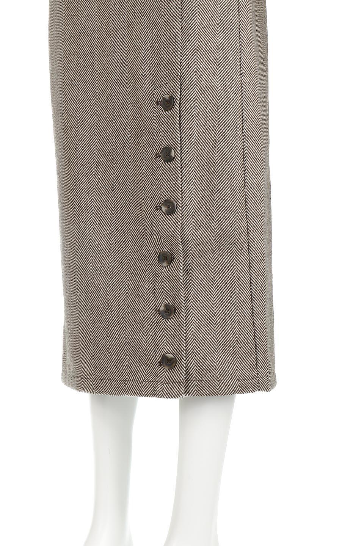 TweedHerringboneSemiTightSkirtツイードヘリンボーン・セミタイトスカート大人カジュアルに最適な海外ファッションのothers(その他インポートアイテム)のボトムやスカート。シックなヘリボーン生地のセミタイトスカート。ややゆとりのあるIラインが特徴の暖かスカートです。/main-25