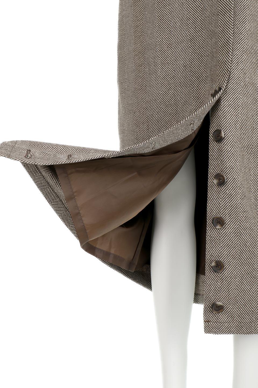 TweedHerringboneSemiTightSkirtツイードヘリンボーン・セミタイトスカート大人カジュアルに最適な海外ファッションのothers(その他インポートアイテム)のボトムやスカート。シックなヘリボーン生地のセミタイトスカート。ややゆとりのあるIラインが特徴の暖かスカートです。/main-26