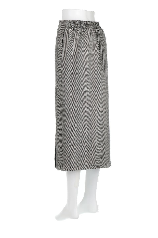 TweedHerringboneSemiTightSkirtツイードヘリンボーン・セミタイトスカート大人カジュアルに最適な海外ファッションのothers(その他インポートアイテム)のボトムやスカート。シックなヘリボーン生地のセミタイトスカート。ややゆとりのあるIラインが特徴の暖かスカートです。/main-3