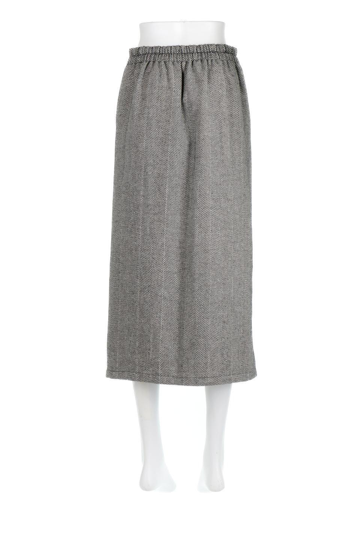 TweedHerringboneSemiTightSkirtツイードヘリンボーン・セミタイトスカート大人カジュアルに最適な海外ファッションのothers(その他インポートアイテム)のボトムやスカート。シックなヘリボーン生地のセミタイトスカート。ややゆとりのあるIラインが特徴の暖かスカートです。/main-4