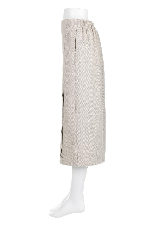 TweedHerringboneSemiTightSkirtツイードヘリンボーン・セミタイトスカート大人カジュアルに最適な海外ファッションのothers(その他インポートアイテム)のボトムやスカート。シックなヘリボーン生地のセミタイトスカート。ややゆとりのあるIラインが特徴の暖かスカートです。/main-7