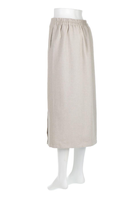 TweedHerringboneSemiTightSkirtツイードヘリンボーン・セミタイトスカート大人カジュアルに最適な海外ファッションのothers(その他インポートアイテム)のボトムやスカート。シックなヘリボーン生地のセミタイトスカート。ややゆとりのあるIラインが特徴の暖かスカートです。/main-8