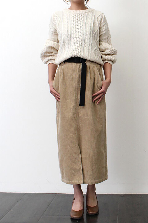 CorduroyLongSkirtw/WebbingBeltベルト付き・コーデュロイスカート大人カジュアルに最適な海外ファッションのothers(その他インポートアイテム)のボトムやスカート。太うねコーデュロイのセミタイトスカート。季節感のある太めのコーデュロイが人気のミディ丈スカート。/main-23