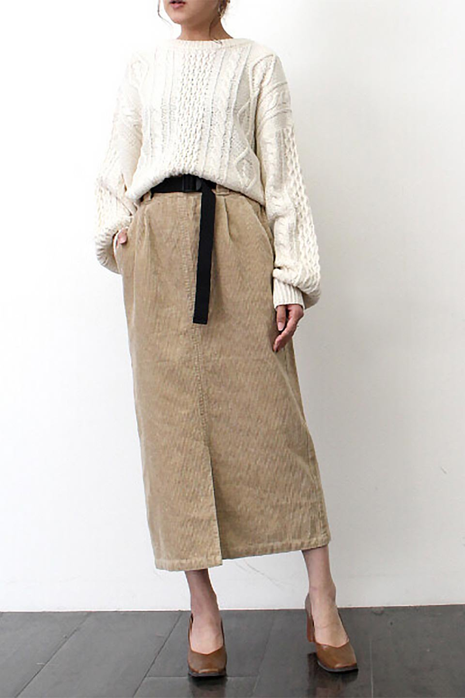 CorduroyLongSkirtw/WebbingBeltベルト付き・コーデュロイスカート大人カジュアルに最適な海外ファッションのothers(その他インポートアイテム)のボトムやスカート。太うねコーデュロイのセミタイトスカート。季節感のある太めのコーデュロイが人気のミディ丈スカート。/main-24