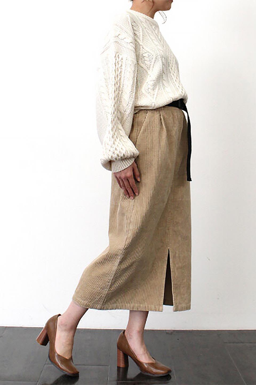 CorduroyLongSkirtw/WebbingBeltベルト付き・コーデュロイスカート大人カジュアルに最適な海外ファッションのothers(その他インポートアイテム)のボトムやスカート。太うねコーデュロイのセミタイトスカート。季節感のある太めのコーデュロイが人気のミディ丈スカート。/main-25