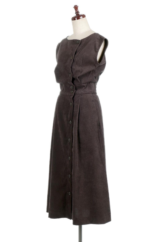 FrenchSleeveCorduroyLongDress細うねコーデュロイ・ロングワンピース大人カジュアルに最適な海外ファッションのothers(その他インポートアイテム)のワンピースやマキシワンピース。コーデュロイのフレンチスリーブが可愛いロングワンピース。センターからずらしたボタンもまた可愛いポイントです。/main-11
