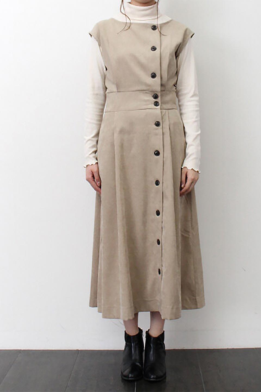 FrenchSleeveCorduroyLongDress細うねコーデュロイ・ロングワンピース大人カジュアルに最適な海外ファッションのothers(その他インポートアイテム)のワンピースやマキシワンピース。コーデュロイのフレンチスリーブが可愛いロングワンピース。センターからずらしたボタンもまた可愛いポイントです。/main-30