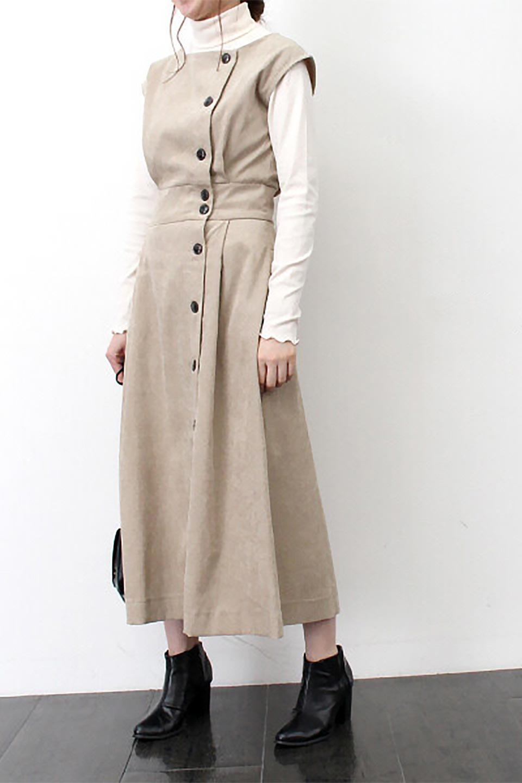 FrenchSleeveCorduroyLongDress細うねコーデュロイ・ロングワンピース大人カジュアルに最適な海外ファッションのothers(その他インポートアイテム)のワンピースやマキシワンピース。コーデュロイのフレンチスリーブが可愛いロングワンピース。センターからずらしたボタンもまた可愛いポイントです。/main-33