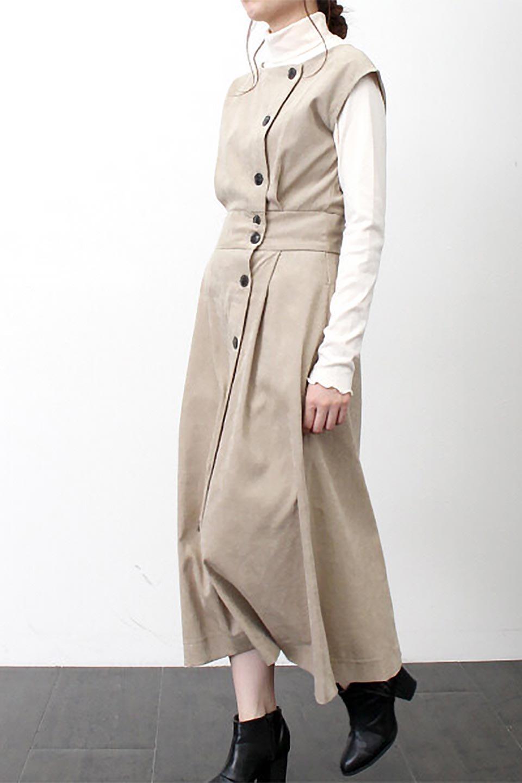 FrenchSleeveCorduroyLongDress細うねコーデュロイ・ロングワンピース大人カジュアルに最適な海外ファッションのothers(その他インポートアイテム)のワンピースやマキシワンピース。コーデュロイのフレンチスリーブが可愛いロングワンピース。センターからずらしたボタンもまた可愛いポイントです。/main-34