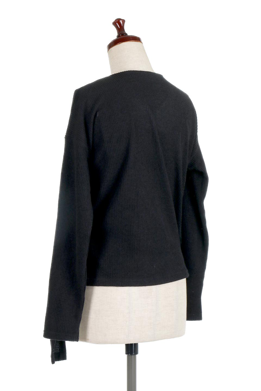 SoftRibKnitCacheCoeurTop起毛リブ・カシュクールトップス大人カジュアルに最適な海外ファッションのothers(その他インポートアイテム)のトップスやニット・セーター。カシュクールデザインが可愛いニットのトップス。カジュアルコーデを上品に見せてくれるリブのカシュクールニットです。/main-18