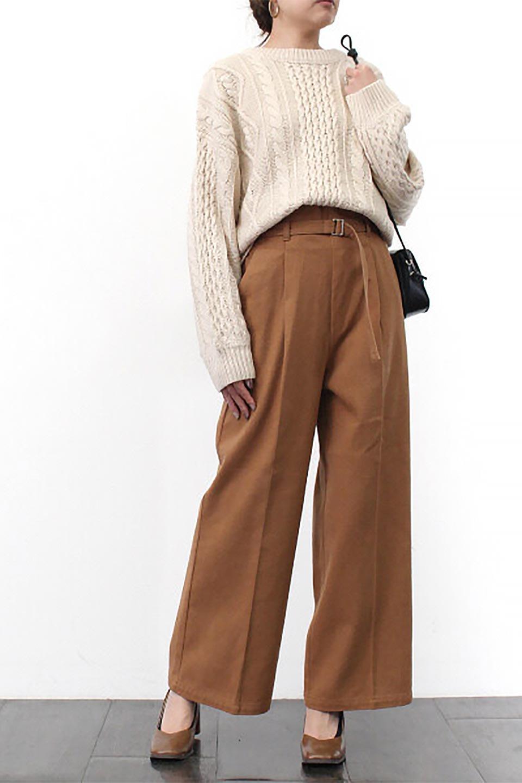 TuckedWideLegPants起毛加工・ワイドパンツ大人カジュアルに最適な海外ファッションのothers(その他インポートアイテム)のボトムやパンツ。合わせやすさ抜群のワイドパンツ。起毛加工された温かみのある素材を使用。/main-26