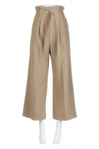 Tucked Wide Leg Pants 起毛加工・ワイドパンツ / 大人カジュアルに最適な海外ファッションが得意な福島市のセレクトショップbloom
