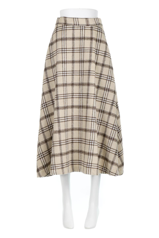 CheckPatternedA-LineLongSkirtAライン・チェックロングスカート大人カジュアルに最適な海外ファッションのothers(その他インポートアイテム)のボトムやスカート。合わせやすさ抜群のチェック柄ロングスカート。表面が起毛した温もりのある生地を使用した季節感のあるスカート。