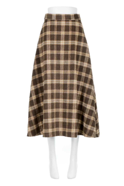 CheckPatternedA-LineLongSkirtAライン・チェックロングスカート大人カジュアルに最適な海外ファッションのothers(その他インポートアイテム)のボトムやスカート。合わせやすさ抜群のチェック柄ロングスカート。表面が起毛した温もりのある生地を使用した季節感のあるスカート。/main-10
