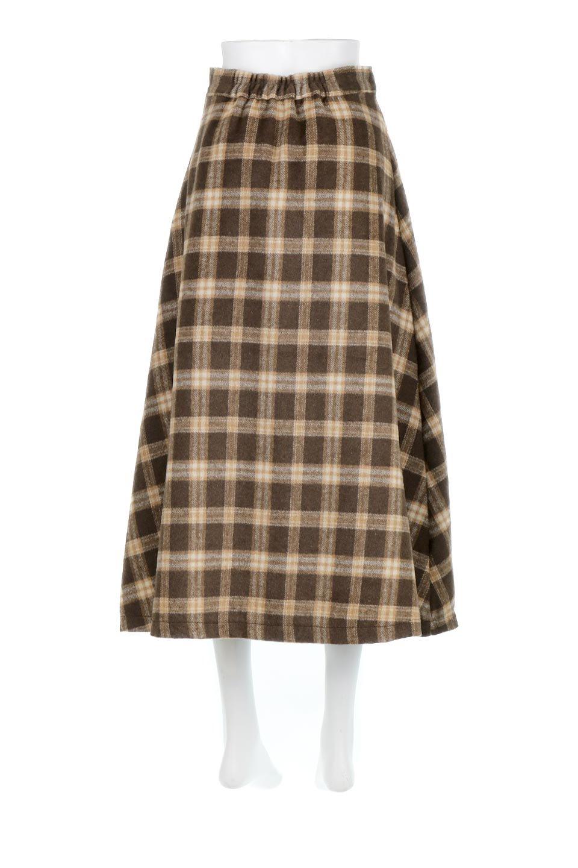 CheckPatternedA-LineLongSkirtAライン・チェックロングスカート大人カジュアルに最適な海外ファッションのothers(その他インポートアイテム)のボトムやスカート。合わせやすさ抜群のチェック柄ロングスカート。表面が起毛した温もりのある生地を使用した季節感のあるスカート。/main-14