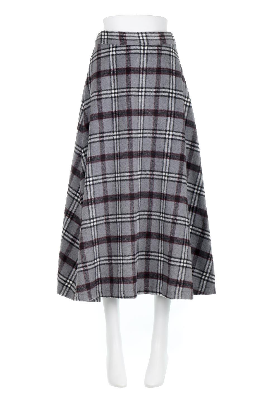 CheckPatternedA-LineLongSkirtAライン・チェックロングスカート大人カジュアルに最適な海外ファッションのothers(その他インポートアイテム)のボトムやスカート。合わせやすさ抜群のチェック柄ロングスカート。表面が起毛した温もりのある生地を使用した季節感のあるスカート。/main-15
